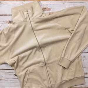 American Apparel • Men's Velour Zip Up Cardigan